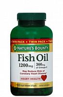 Nature's Bounty Fish Oil 1200 мг 180 мягких капсул