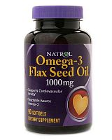 Flax Seed Oil Softgel 90 капс (Natrol)