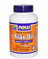 Organic Flax Oil 1000 мг 120 Softgels (NOW)