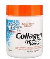 Collagen Types 1 & 3 Powder 200 гр (Doctor`s Best)